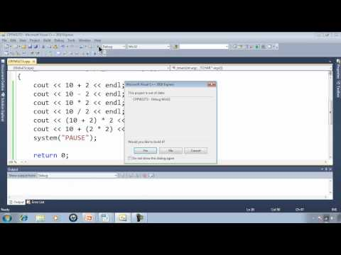 C++ Win32 Console Tutorial 3 - Printing Math