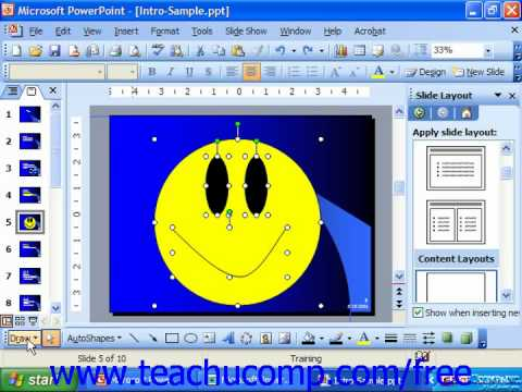 PowerPoint 2003 Tutorial Grouping Objects Microsoft Training Lesson 20.1
