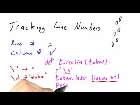 Tracking Line Numbers - CS262 Unit 2 - Udacity