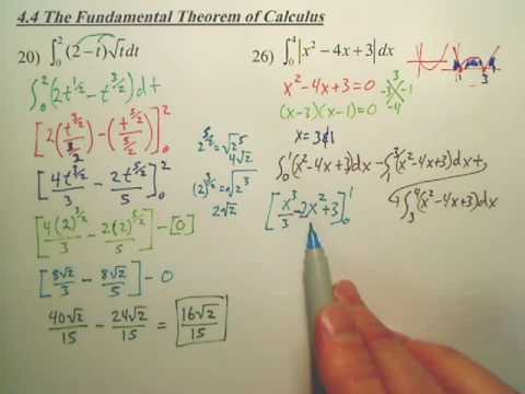 4.4a2 The Fundamental Theorem of Calculus - Calculus