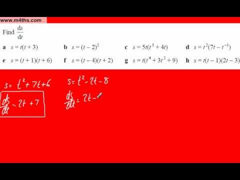 (e) Core 1 Differentiation (expanding brackets and then differentiating)