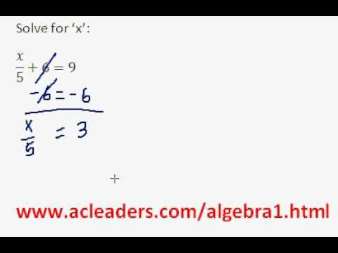 Algebra 1 - Solving Equations (pt. 4)