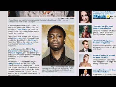 Prisoner Claims He Shot Tupac Shakur