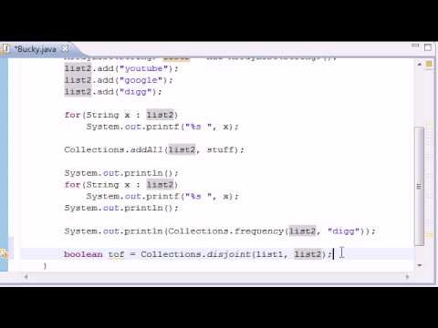 Intermediate Java Tutorial - 13 - frequency, disjoint