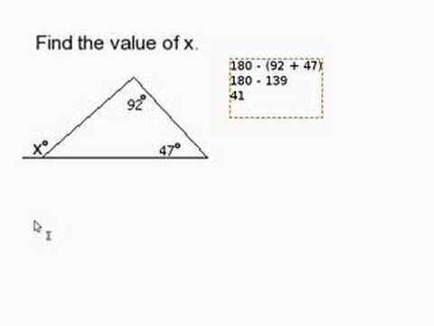 Find a Missing Angle Outside of a Triangle