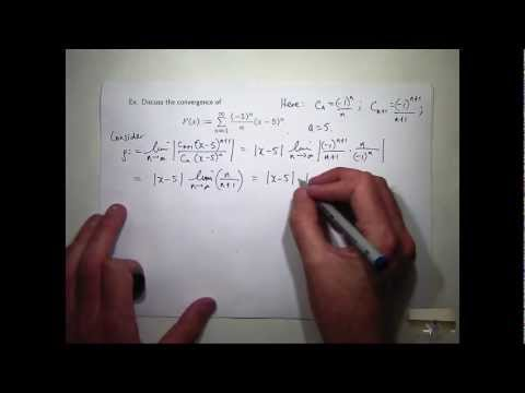 Power series convergence interval