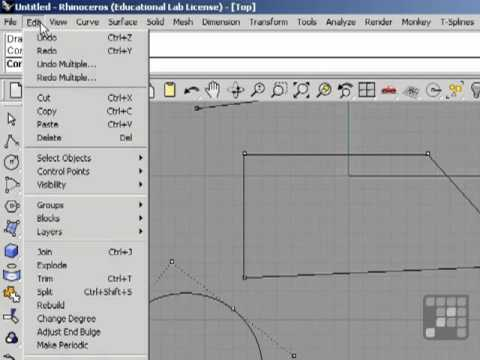 Working with NURBS Curves - Rhino 4 Tutorial