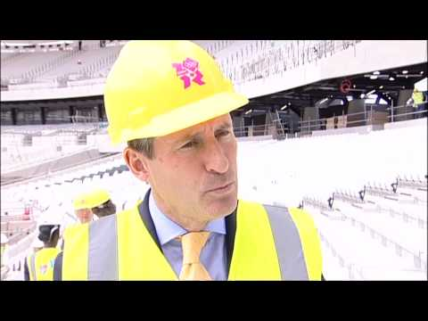 IOC visit to London 2012 Olympic Stadium