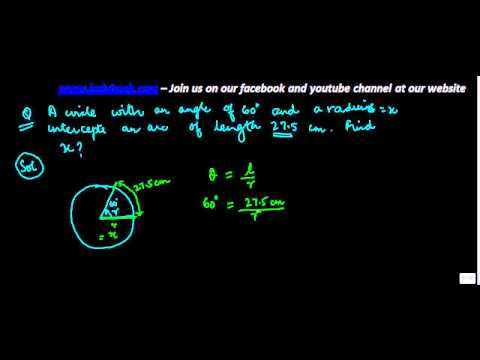 Trigonometry - Finding radius of circle when angle and length of arc are given