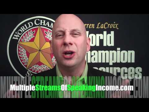 Multiple Streams of Speaking Income ~ New Program Coming Soon!