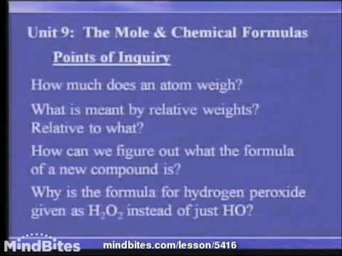 Chemistry Fundamentals: Mole & Chemical Formulas 1