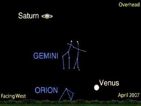 What's Up for April 2007? Saturn and the moon