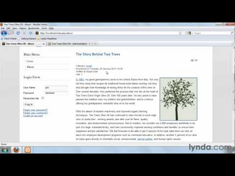 Joomla! tutorial: Adding links on the main menu | lynda.com
