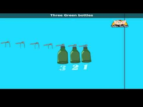 Ten Green Bottles with Lyrics - Nursery Rhyme