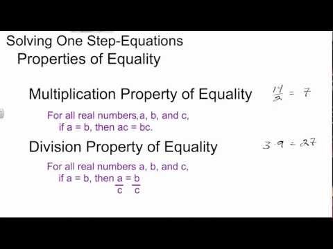 Solving One Step Equations with Multiplication and Division