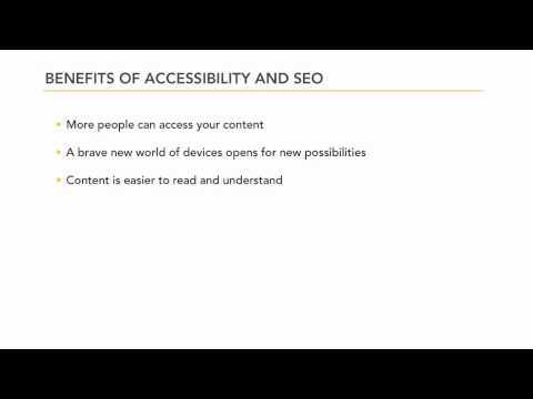 Web accessibility and SEO best practices | lynda.com tutorial
