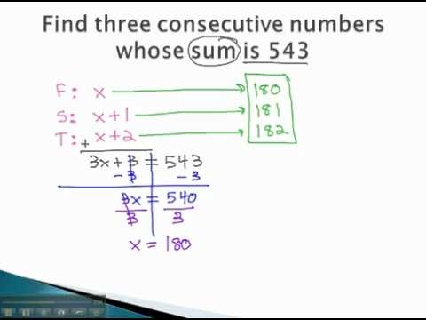 Word Problems - Consecutive Integers - YouTube.mp4