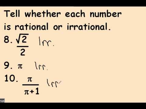 66 Rational and Irrational Numbers