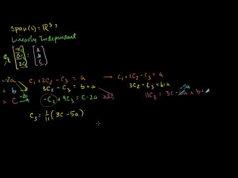 Span and Linear Independence Example