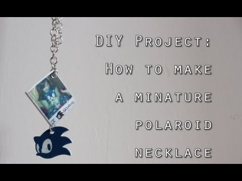 DIY: How To Make a Mini Polaroid Necklace