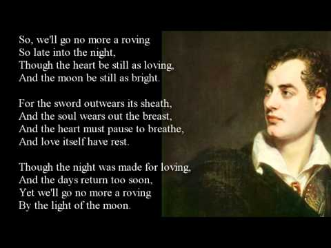 We'll go No More A Riving by Lord Byron - with text