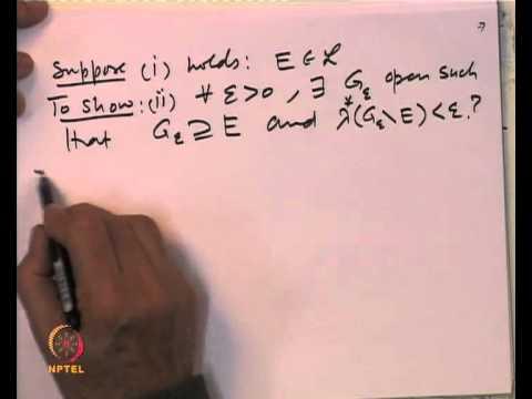 Mod-04 Lec-13 Characterization of Lebesque measurable sets