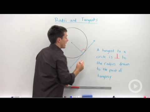 Geometry - Radii to Tangents