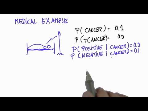 Cancer Example 2 - Intro to Statistics - Conditional Probability - Udacity