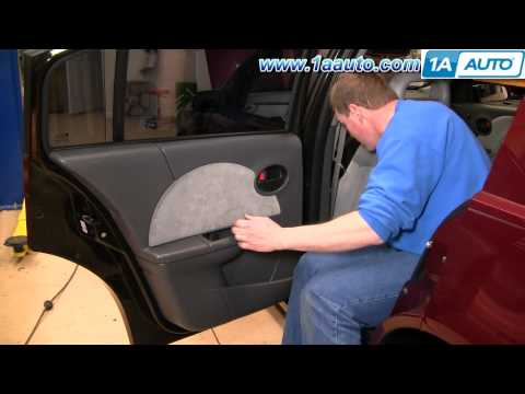 How To Install Replace Remove Rear Door Panel Saturn Ion 03-07 1AAuto.com