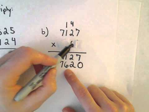 Multiplying Whole Numbers, Example 5