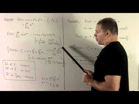 Derivative/Antiderivative of a Power Series 1c - More Examples