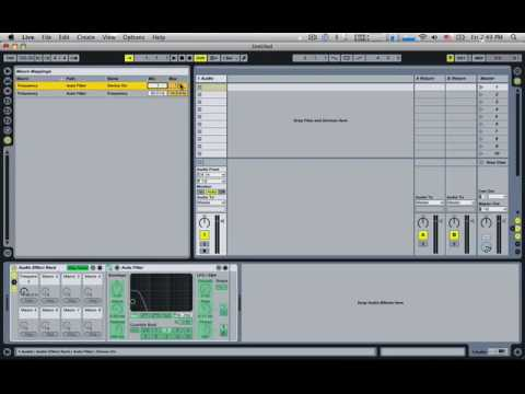 Ableton Racks - Assigning Macro to Parameter and On Button