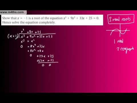 (27) FP1 Complex Numbers (Edexcel Further Pure Maths) - Finding a cubic example 1