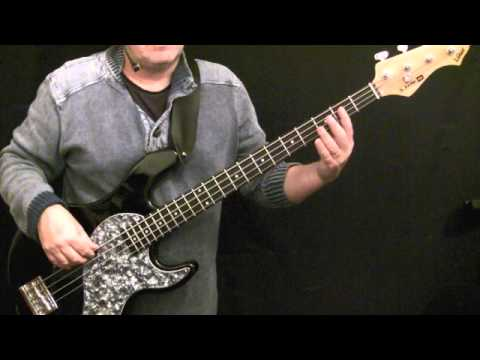 how to play bass guitar to night fever - the bee gees
