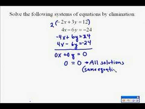 A17.11 Solving Systems of Equations by Elimination