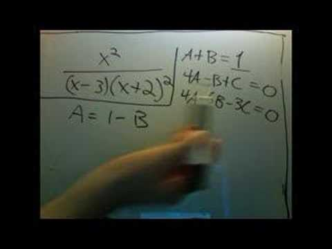 partial fractions part 3: second example
