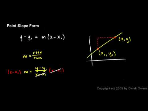 Algebra Review 11.6 - Graphing Lines