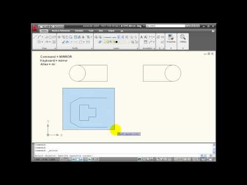 AutoCAD Tutorials - Using the MIRROR Command