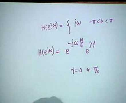 Lecture - 17 Linear Phase filters,Complementary Transfer Fn