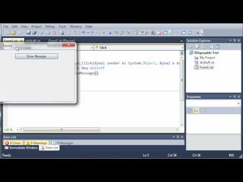 Visual Basic Tutorial - 101 - Using   End Using