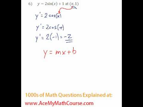 Derivative - Tangent Line Question #6