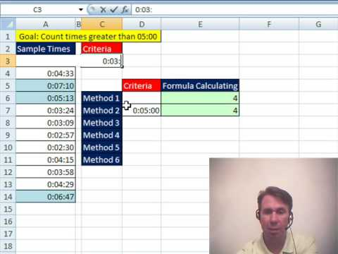 Mr Excel & excelisfun Trick 17: Count Times Greater Than 5 M