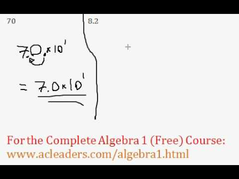 (Algebra 1) Conversion to Scientific Notation - Questions #3-4