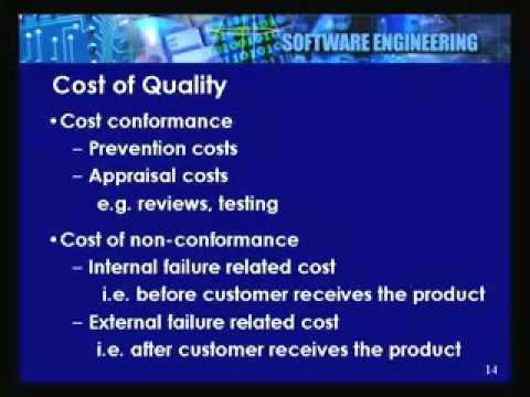 Lecture - 34 Project Quality Management