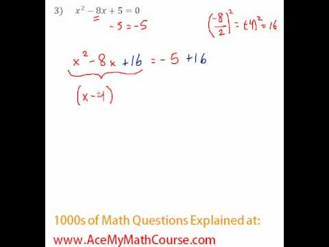 Solving by Completing the Square #3