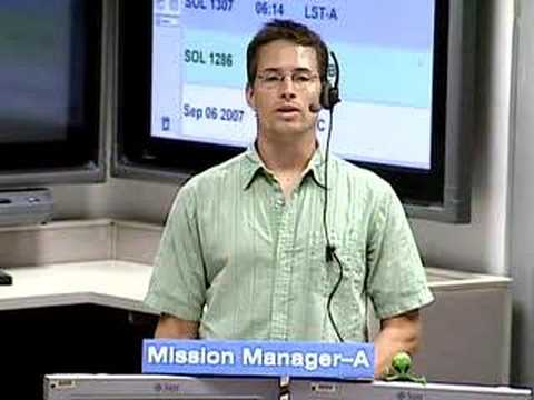 JPL Video: Mars Rover Flight Director Report 9/7/07