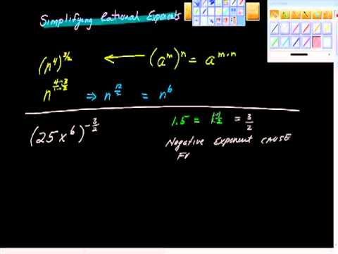 Simplifying Rational Exponents One.