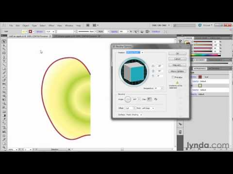 Illustrator tutorial: Using the 3D Revolve tool | lynda.com