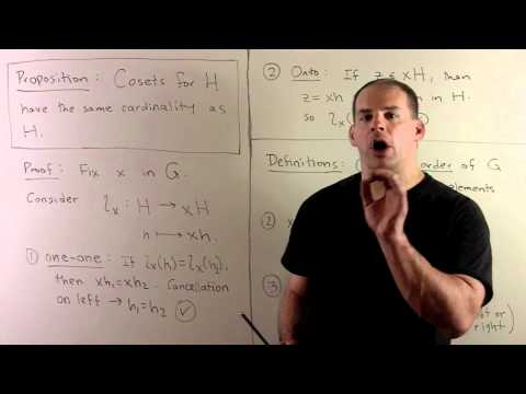 GT3. Cosets and Lagrange's Theorem