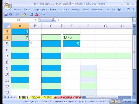 Excel Magic Trick #203: Sequential Numbers in Formulas ROWS function